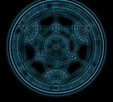 Glowing Transmutation Circle by codrew