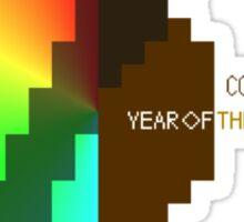 Year Of The Black Rainbow ultra retro Sticker