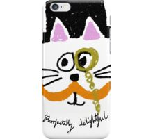 purrfectally delightful iPhone Case/Skin