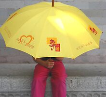 Umbrella - The Forbidden City Beijing China 2002 by Roger Smith