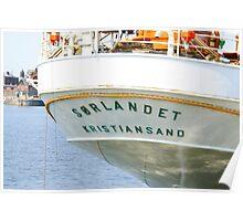 SORLANDET - Norwegian Ship Poster