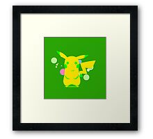 Pokemon - Green Pikachu Framed Print