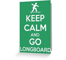 Longboard Greeting Card