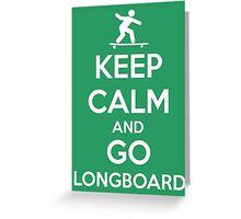 Longboard Greeting Card