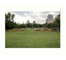 The gardens outside of Brookfield Zoo in Chicago Art Print