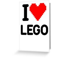 I Love LEGO Greeting Card