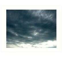 A face in the clouds-is it Jesus looking  upon us Art Print