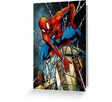 Spidey on the Wall Greeting Card