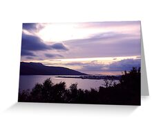 Ullapool As The Sun Sets Greeting Card