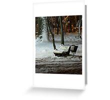 Winter Bench Greeting Card