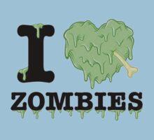 I Love Zombies Kids Tee