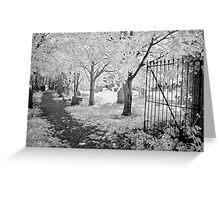 Graveyard Gate Greeting Card