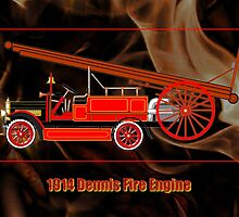 1914 Dennis Fire Engine by Dennis Melling