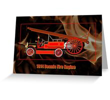 1914 Dennis Fire Engine Greeting Card