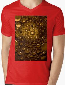 Abstract with bubbles Mens V-Neck T-Shirt
