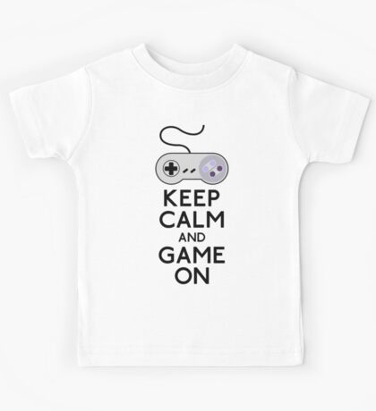 Keep Calm And Game On Kids Tee