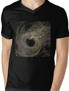Spaced-Out Heart Mens V-Neck T-Shirt
