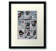 Tuna Tin in progress (8)  Framed Print