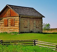 Historic Log Cabin by EBArt