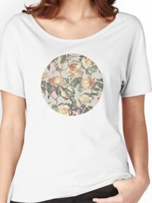 Soft Vintage Rose Pattern Women's Relaxed Fit T-Shirt
