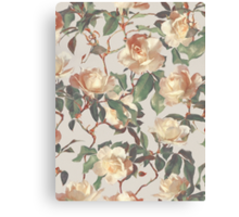 Soft Vintage Rose Pattern Canvas Print