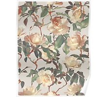 Soft Vintage Rose Pattern Poster