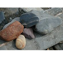pebble collage Photographic Print