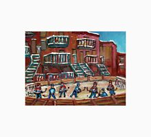CANADIAN CULTURE PAINTINGS OF OUTDOOR RINK HOCKEY BY CANADIAN ARTIST CAROLE SPANDAU Unisex T-Shirt