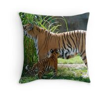 Mum and one of her babies Throw Pillow