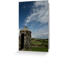 Charles fort turret Two Greeting Card