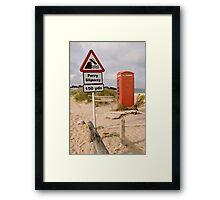 Beach Phone Box Framed Print