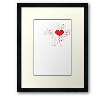 My Tech Heart Framed Print