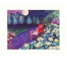 The Moon Seat Art Print
