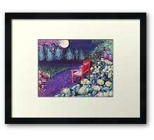 The Moon Seat Framed Print