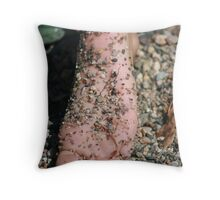 Beach Feet Throw Pillow