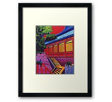Back Door to the Temple Framed Print