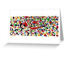 Series brush strokes No. 04/ 2014 Greeting Card