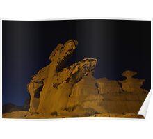 Eroded rocks Bolnuevo Poster