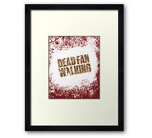 Dead Fan Walking Framed Print