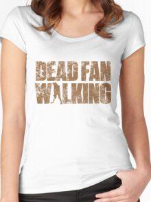 Dead Fan Walking Women's Fitted Scoop T-Shirt