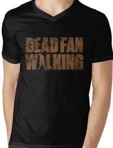 Dead Fan Walking Mens V-Neck T-Shirt
