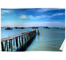 clan jetty in Penang island Poster