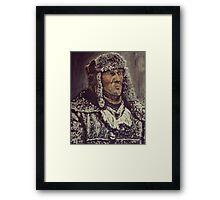 Snowy Man Framed Print