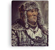 Snowy Man Canvas Print