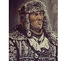 Snowy Man Photographic Print