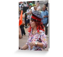 Lady Red Greeting Card