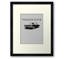 The road so far Framed Print