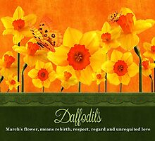 March Birth Flower - Calendar Image by Doreen Erhardt