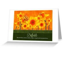 March Birth Flower - Calendar Image Greeting Card