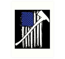 Cool 'Distressed American Flag and Fire Axe' T-shirts, Hoodies, Accessories and Gifts Art Print